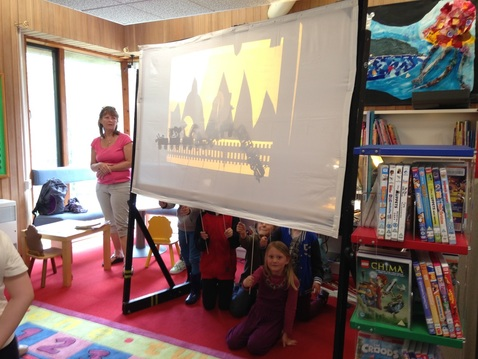 Shadow Puppetry workshop at Wadebrdige library